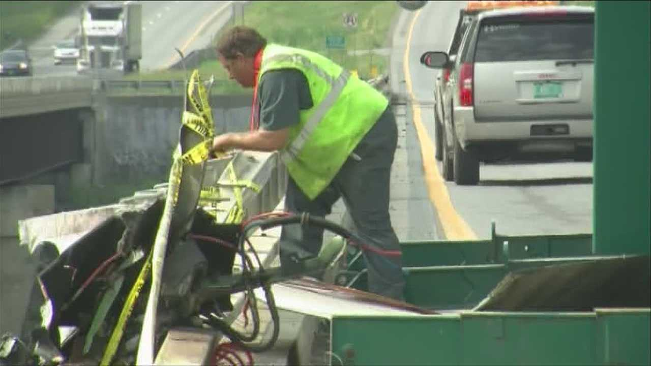 Pieces of tractor-trailer lifted out of Winooski river