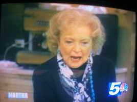 I shared a piece of pie with legendary actress Betty White. She was a guest on the Martha Stewart show the day photographer Jaime Brassard and I visited the set. Betty charmed both me and Jaime.