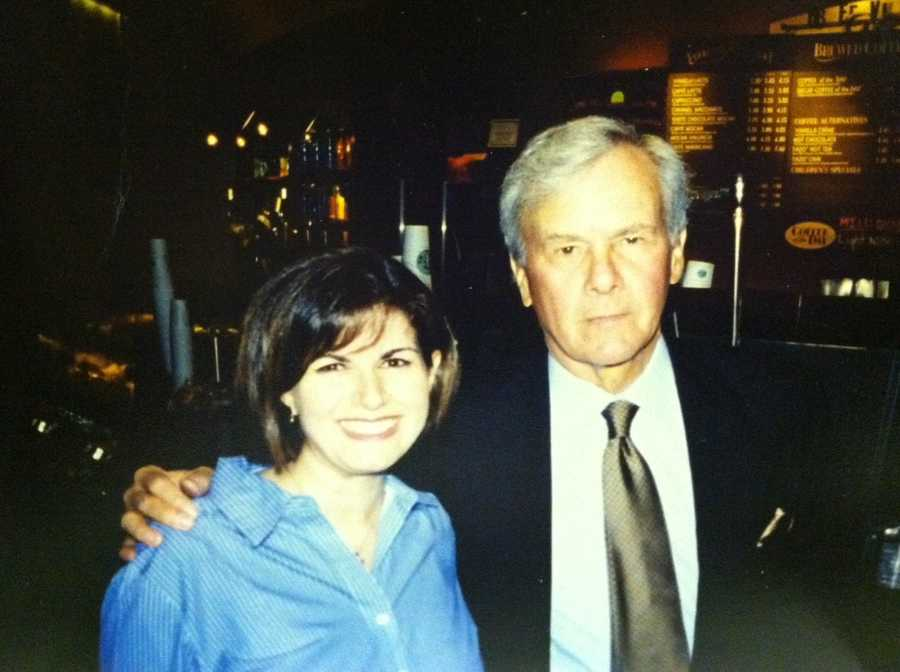 I am a huge fan of Tom Brokaw. Here I am with him at Rockefeller Center in NYC.