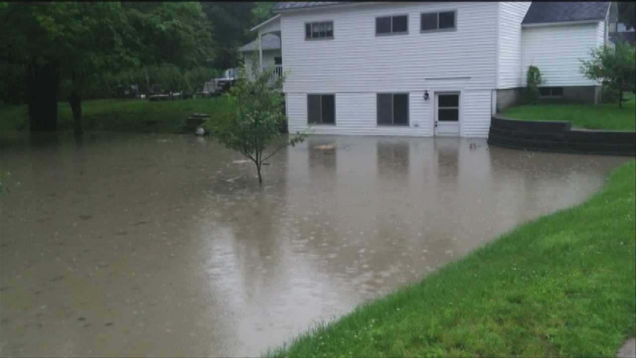 Towns across the region are sopping and swollen from the rains. It's got one woman in Essex Junction downright exhausted. Picture courtesy of Linda Paroline.