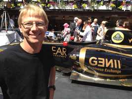 Extra fact: Tom loves Formula 1 Motor Racing. Here he is in Montreal during the Canadian Grand Prix Weekend.
