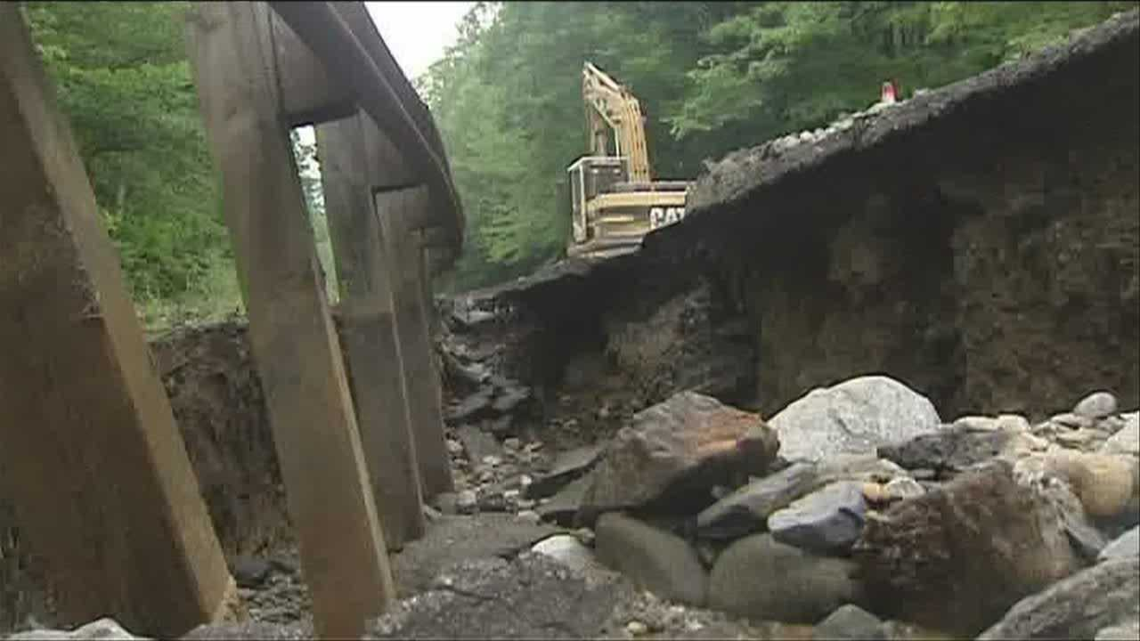 Vt. Transportation Agency workers spent the day making repairs following more flash floods
