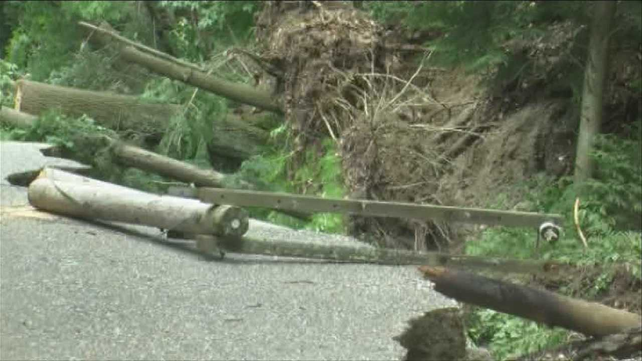 Crews work to fix storm-ravaged roads