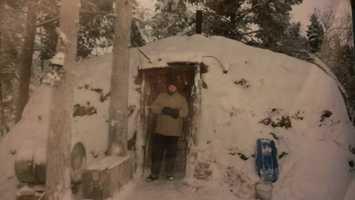 Exterior of the Lappish hut.