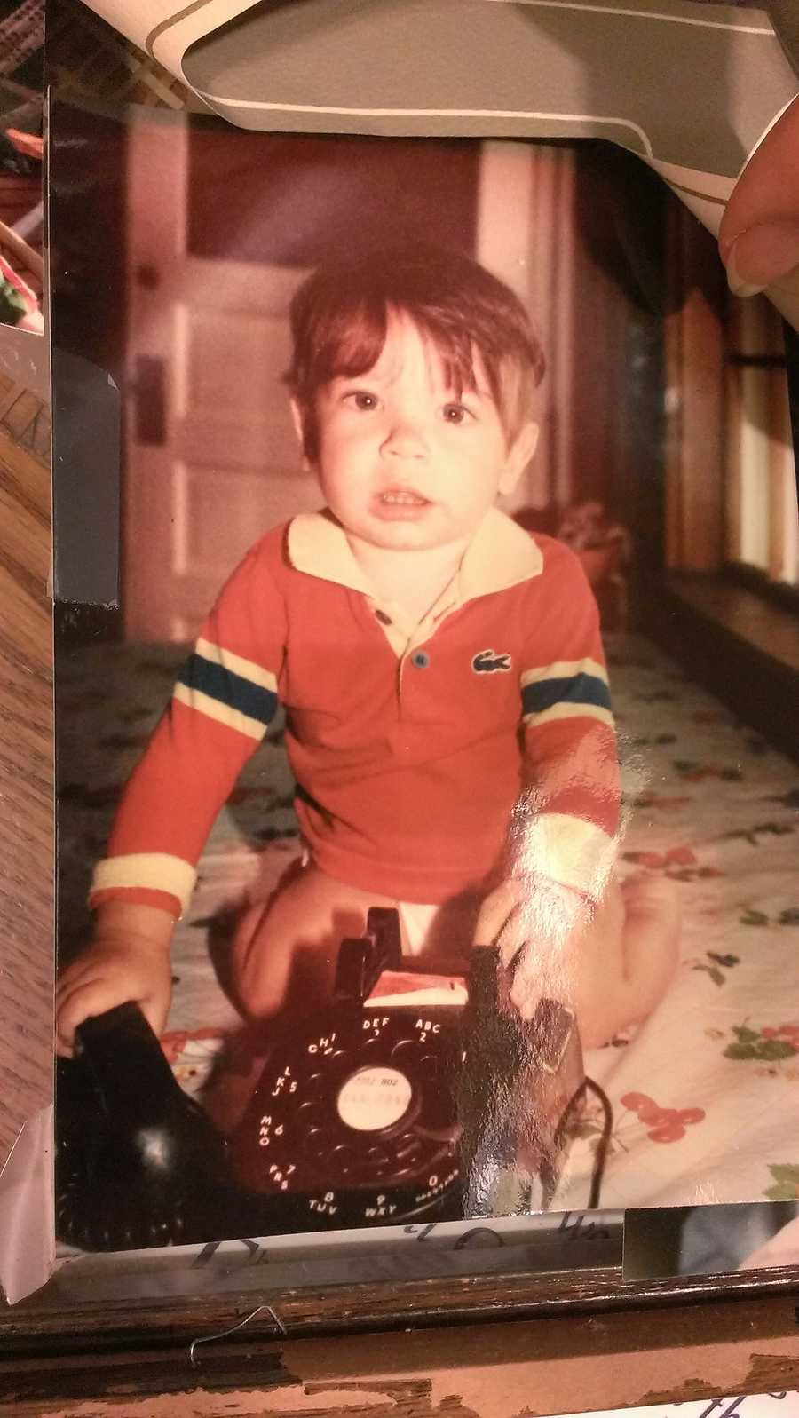 As a budding young journalist David got his start working the phones as seen here at his Cambridge, Vermont home.
