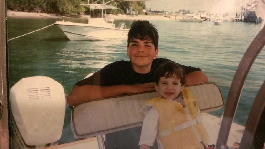 David shares his love of boating with his nephew Ben.