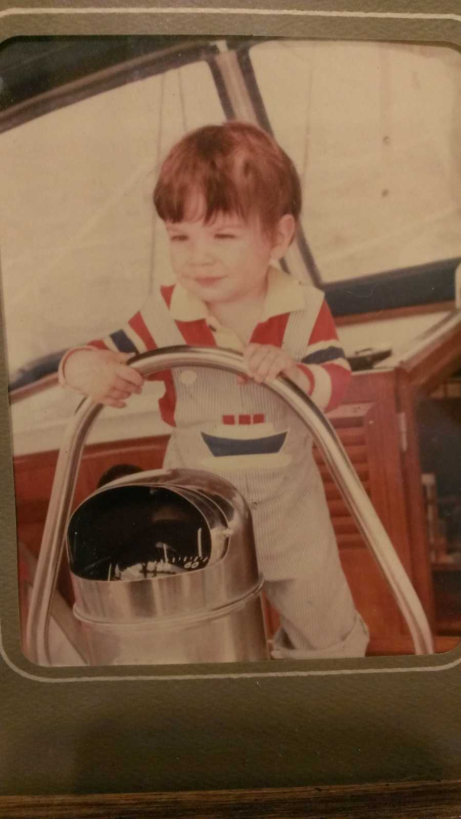 David got his sea legs at an early age. His parents maintain he was sailing by the time he was a month old. It's a sport and an art he loves to this day.