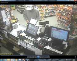 Man sought in strong-armed robbery of Simon's Mobil in Essex, Vermont.