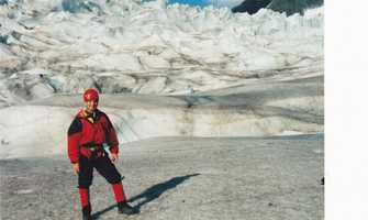 I participated in an Ice Climb up the face of the Mendenhall Glacier in Alaska in 1999.