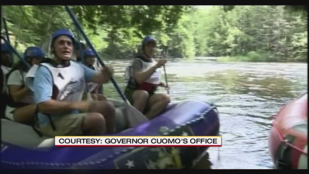 New York Gov. Cuomo and New York City Mayor Bloomberg face off in Adirondack Challenge