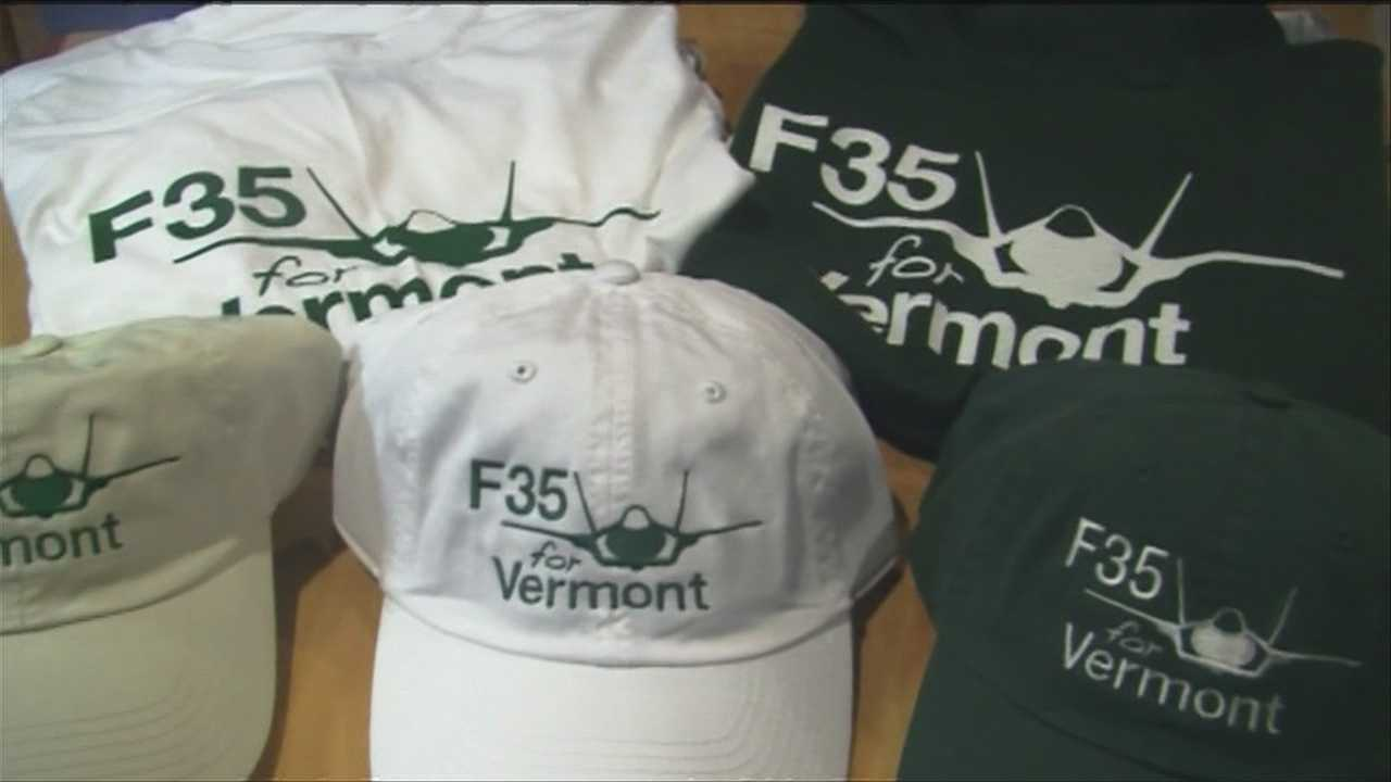 The Green Ribbons for the F-35 in support of basing the fighter jets in Burlington celebrates its one-year anniversary Tuesday, as opponents came up with another argument against basing the embattled planes in Vermont.