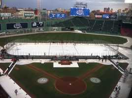 Ken has been to Fenway Park but NOT for a baseball game. Instead, he went for UVM's Frozen Fenway game. Anyone have Red Sox tickets?