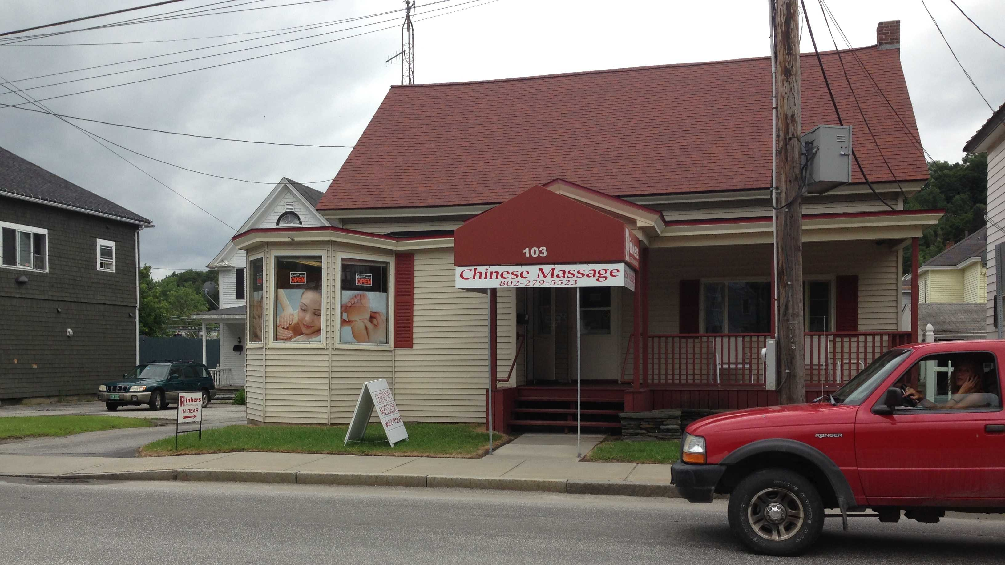 "A new ""Chinese Massage"" parlor opened three weeks ago in Barre City."