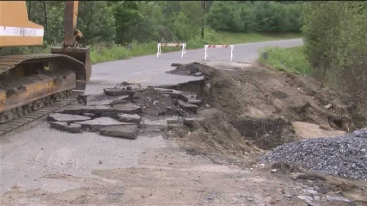 Heavy summer rains eroded the pavement in one local town, but officials aren't just blaming the weather.