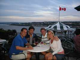 I am 25% Canadian - my granddad's family lived in Montreal, in Westmount. This was a fun time at the beautiful Chateau Frontenac in Quebec City with great pals.