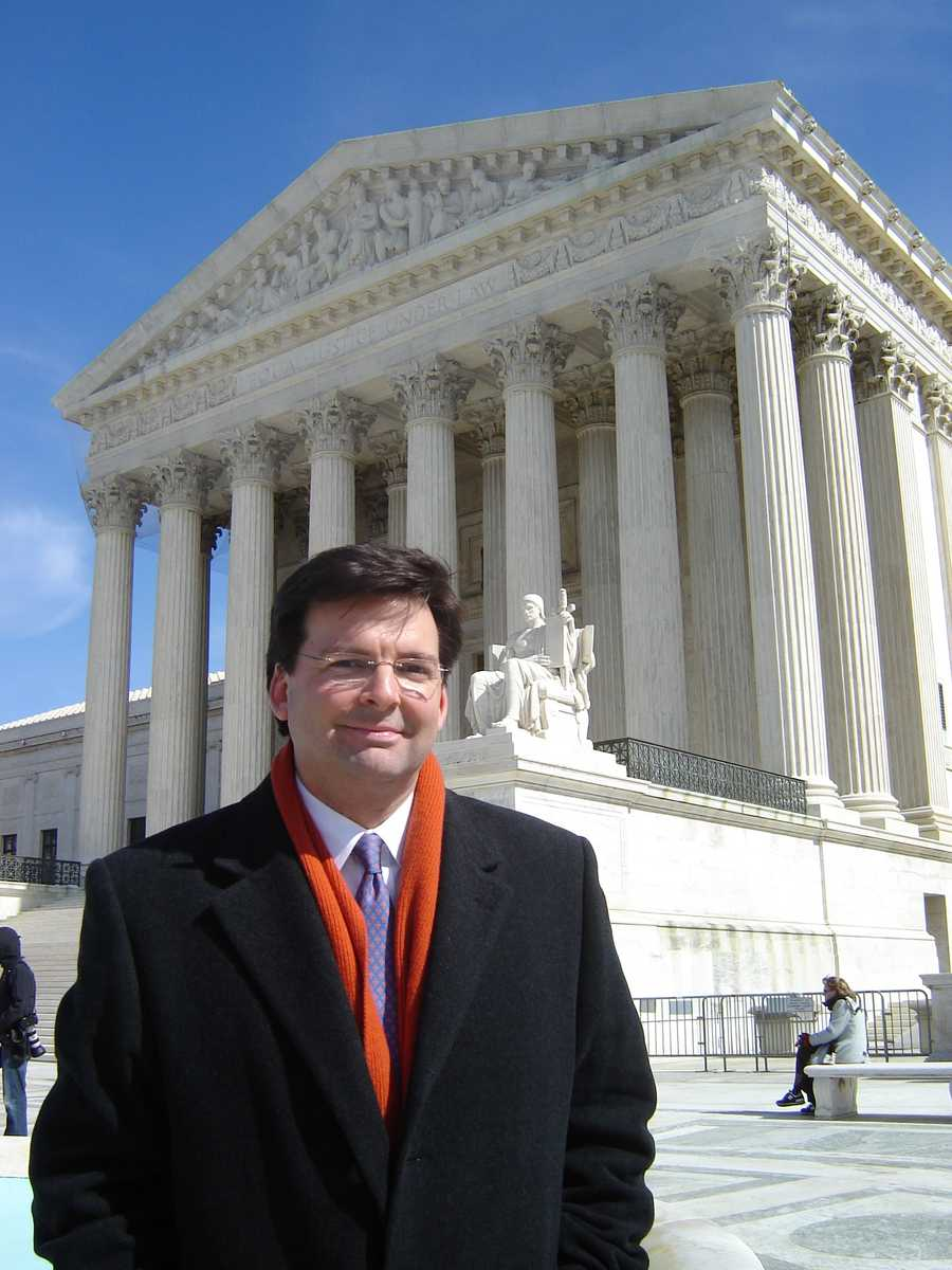 I'd never been inside the U.S. Supreme Court until this day in 2006. It is a stunning building and when the nine justices walk out, they don't fool around.