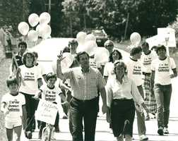 The reason I got into the news business really stems from the experience I had in 1980, when my Dad ran for the U.S. Senate. I saw how campaigns and media interact. This photo was taken in Derby with my family at the start of his statewide campaign walk. Vermont's small, but walking it is another story.