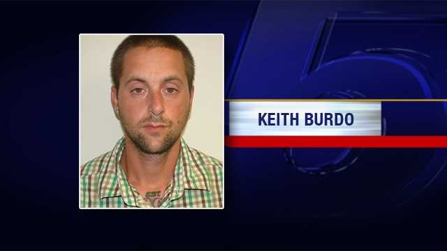 Keith Burdo is charged with burglary and unlawful for breaking into an auto parts store in Milton, Vermont.