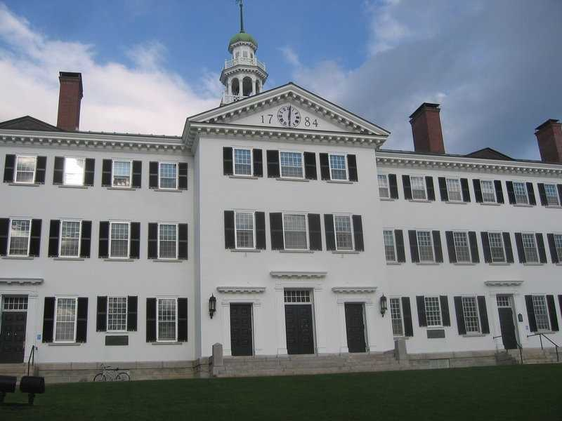 The two oldest buildings at Dartmouth are from the 1820s: Wentworth Hall and Thorton Hall.