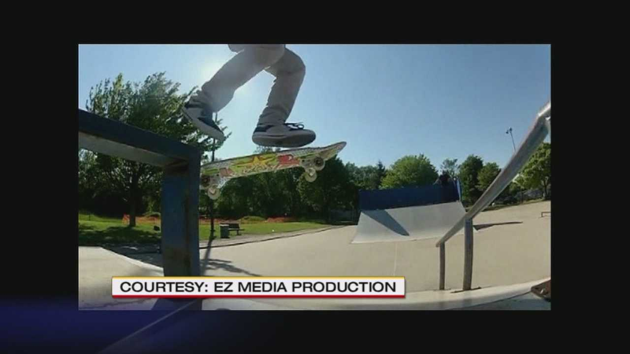 With a camera, skateboard and vision, student raises money for new public skatepark