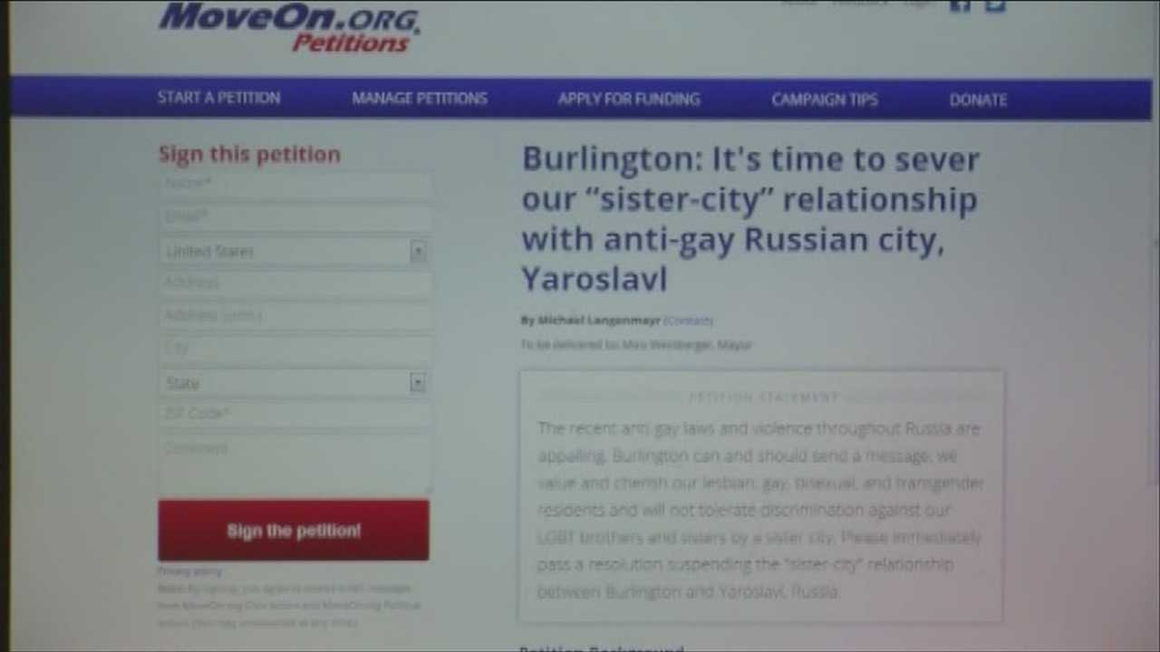 Petition in response to new Russian anti-gay laws