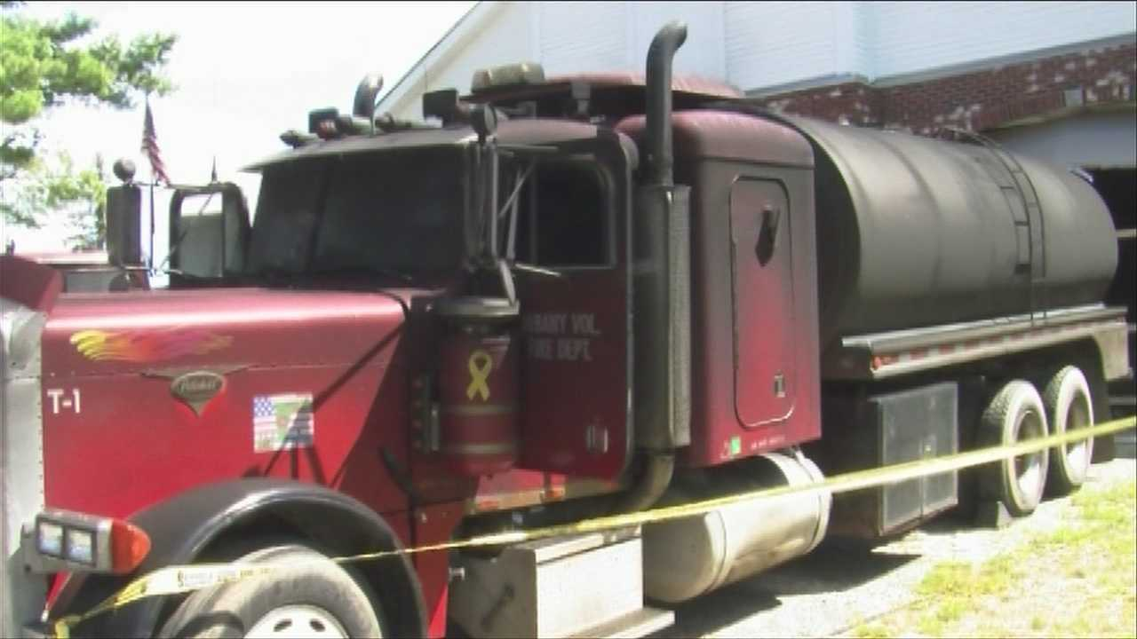 Volunteer fire department fights flames at its own fire house
