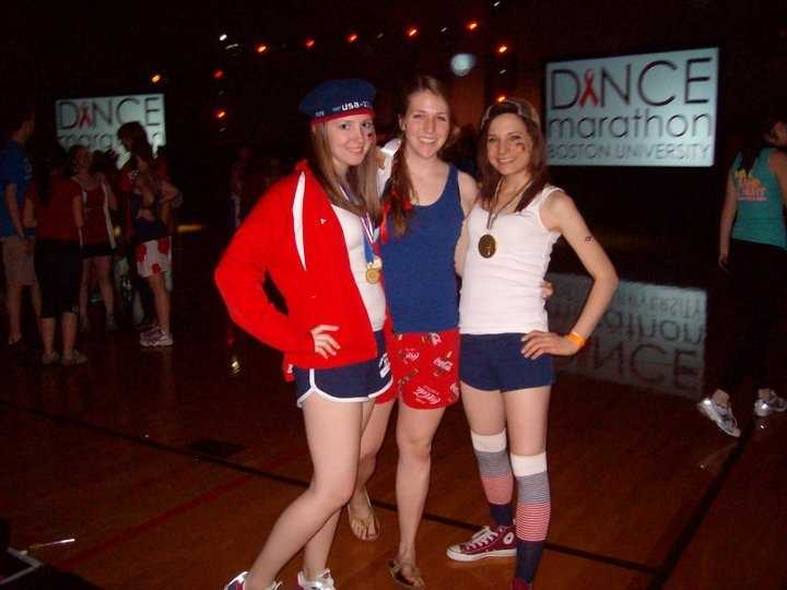 """Also, like David Charns, I went to the same 24-hour dance marathon to raise money for pediatric aids research. This was taken during the """"America"""" hour."""
