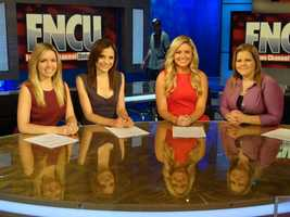 I also interned at Fox News Channel headquarters in Manhattan. This was taken on Shepard Smith's set.