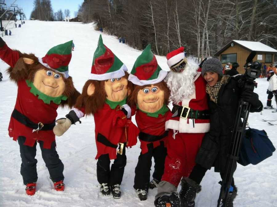 I started working at WPTZ as the Upper Valley reporter last October. During the winter, I did many stories on the slopes in Southern Vermont- none compare to the time I met Santa and his elves.