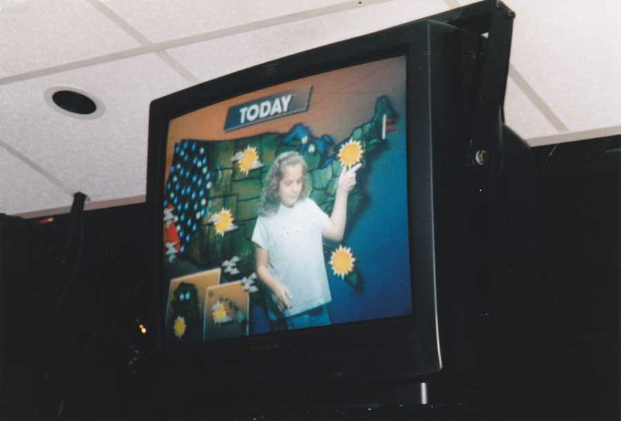 I didn't get bit by the news bug until later in life at the ripe age of 7. Here I am trying out the weather wall on a tour of the NBC studios in New York City. I taught Tom Messner everything he knows. Okay, maybe that last bit isn't true...