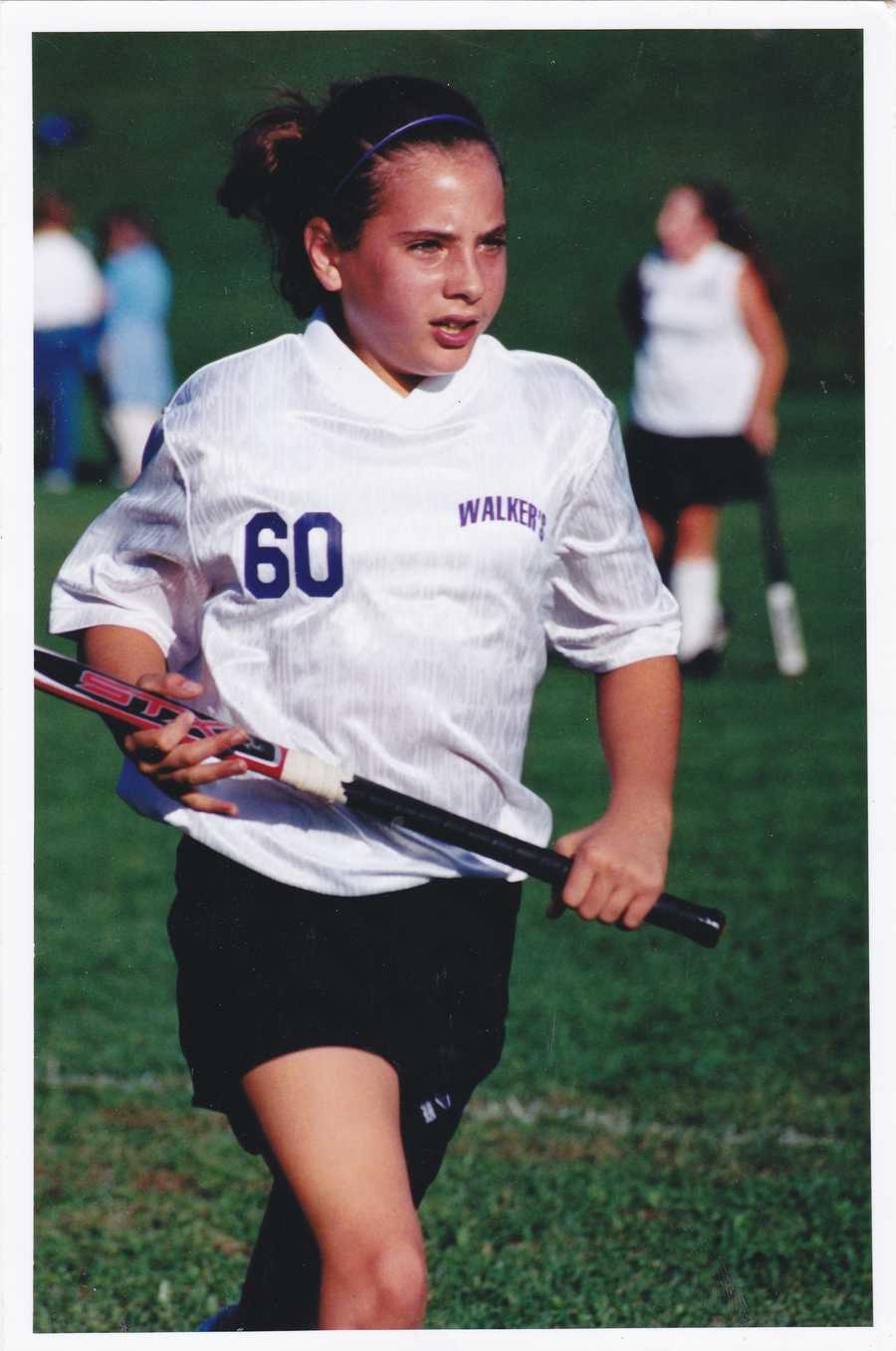 I also played field hockey throughout elementary, middle and high school. Midfield was my position of choice. I was an okay player, but what I really brought to the team was the intimidation factor-- I mean, look at that game face.