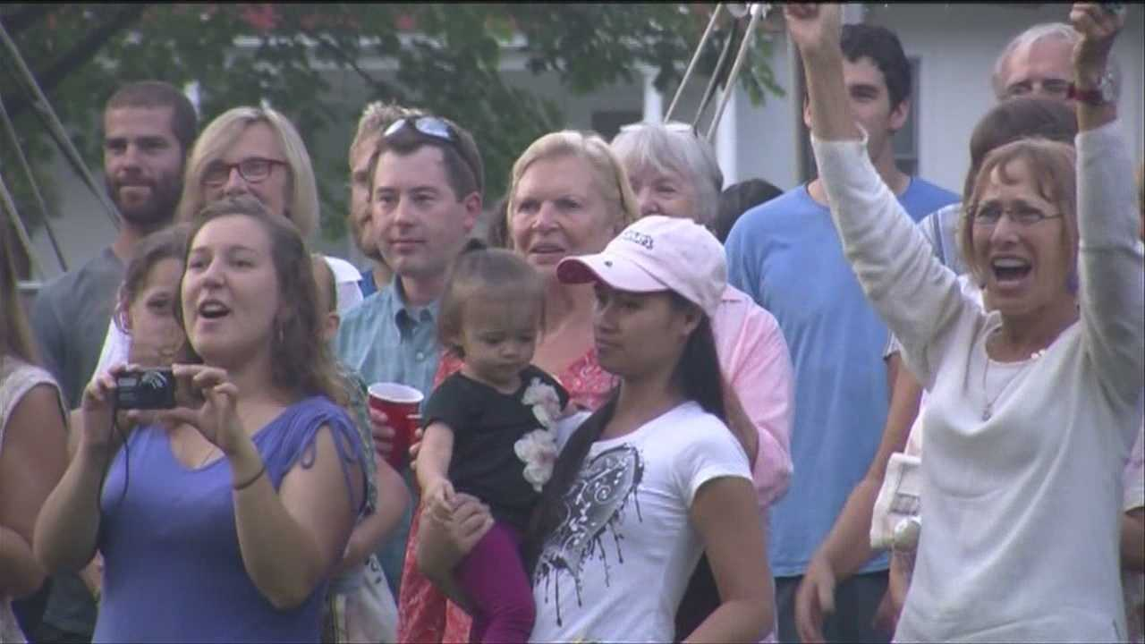 The town of Rochester, Vt., held a party Wednesday night, commemorating the second anniversary of Tropical Storm Irene.