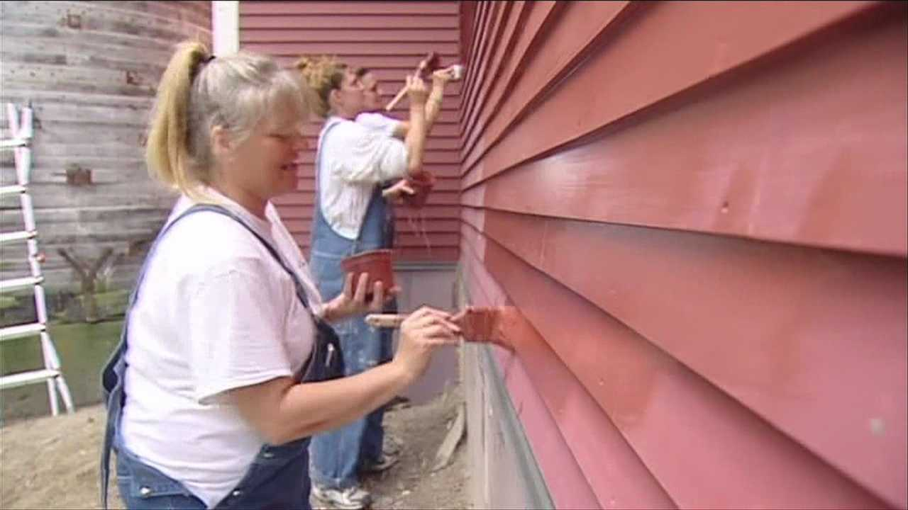 Bobbi-Jo Hodgdon has been part of a painting crew during the day, giving the distinctive red color to a newly-built barn in Burlington, Vt. Hodgdon spends her nights in a prison cell at the Chittenden Regional Correctional Facility in South Burlington