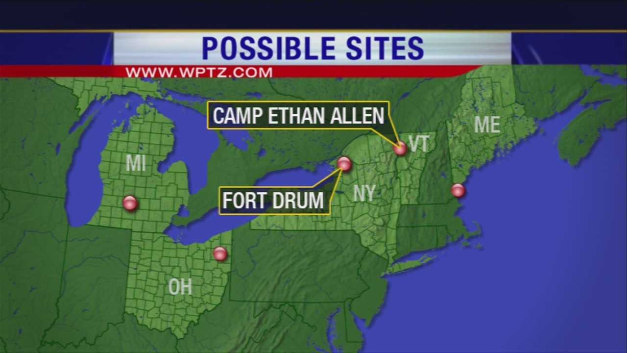 Vermont's Camp Ethan Allen and New York's Fort Drum are being considered by the Department of Defense as potential locations for an anti-ballistic missile launch site.
