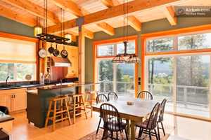 A gourmet kitchen is included in the rental.
