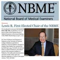 I also currently serve as chair of the National Board of Medical Examiners—who protect you and me by making the tests that your doctor takes to get his or her medical license.
