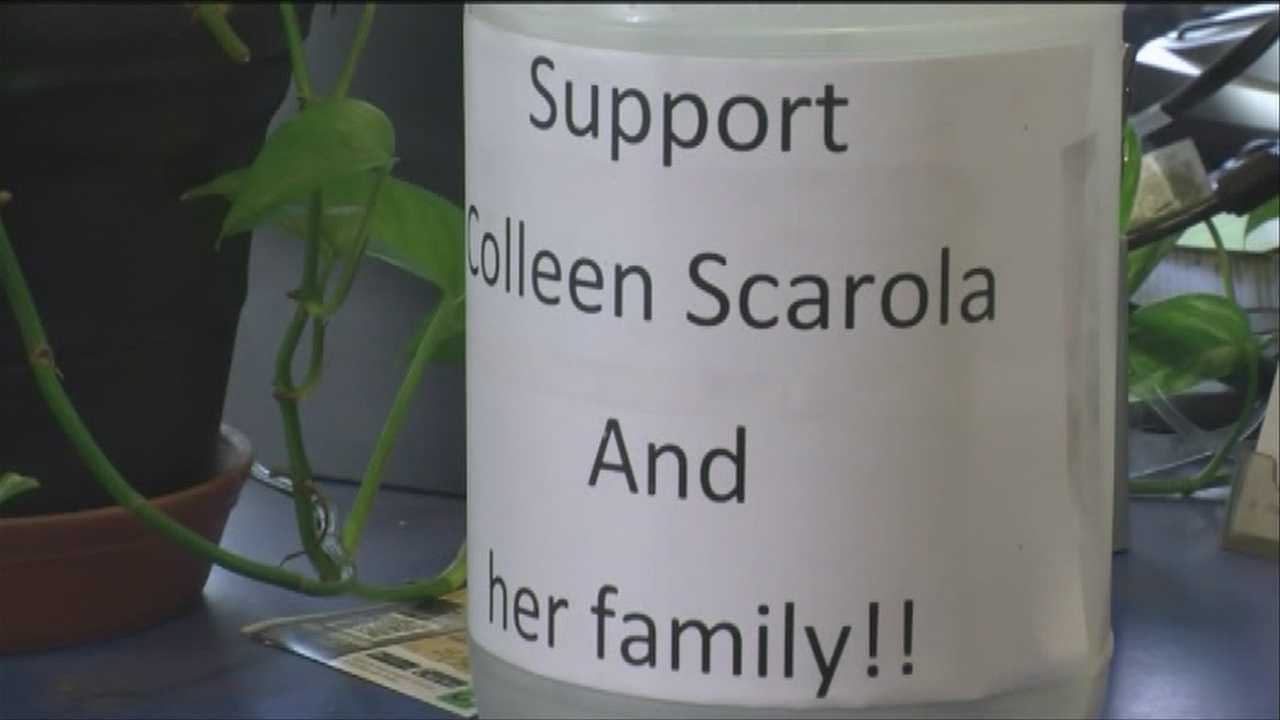 A deli hopes to raise money for a local woman hospitalized after an alleged domestic violence attack.