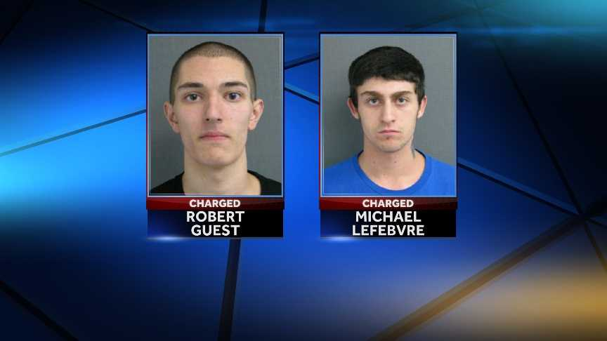 Police on Wednesday arrested 20-year-old Michael LeFebvre and 19-year-old Robert Guest Jr., both of Lyndonville, for allegedly threatening two juveniles with a gun.