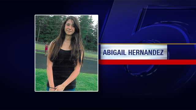 Abigail Hernandez, now 15, of North Conway, New Hampshire was reported missing Oct. 9, 2013.