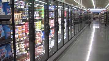 Frozen food aisle.