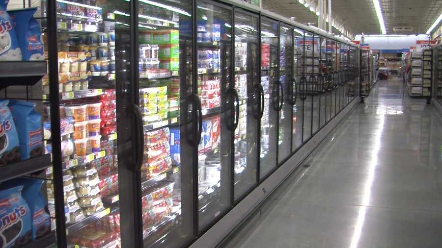 Frozen food aisle.