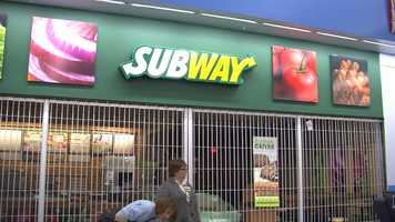 There's a Subway inside.