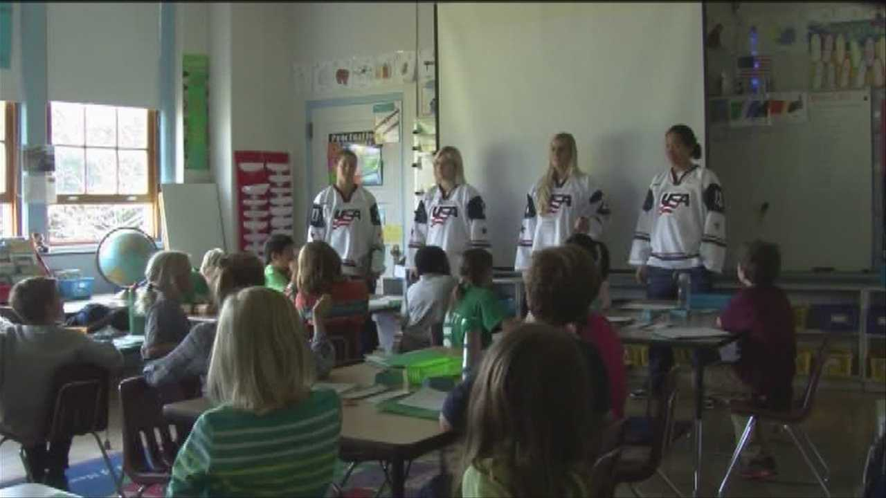 Students enjoyed a special visit from some prime time athletes on Tuesday.