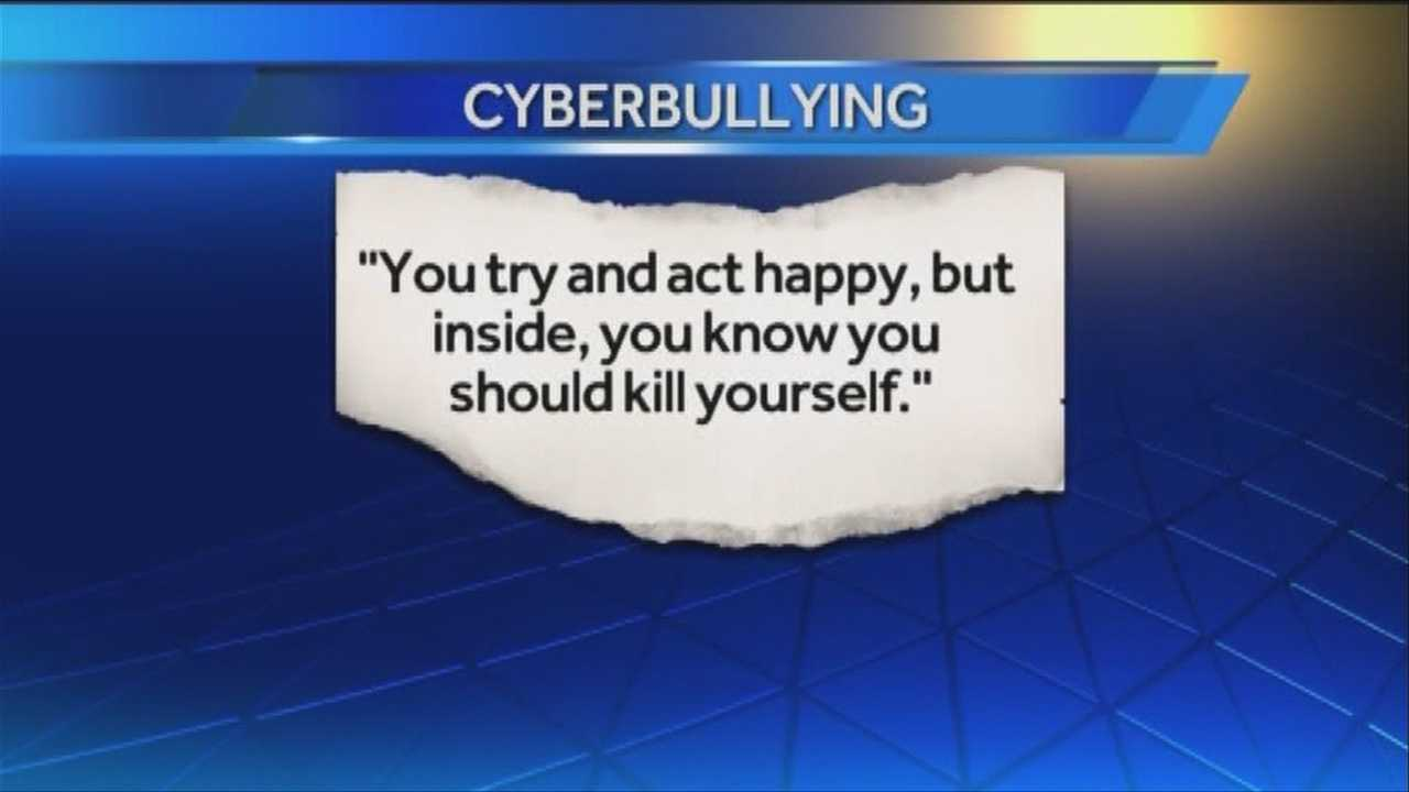 A cyberbullying victim is speaking out, hoping to catch the ears of lawmakers to strengthen the state's bullying law.