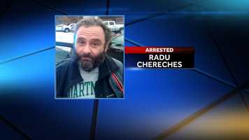 Radu Chereches, 47, of Ridgeline, South Carolina, was arrested Wednesday after he allegedly created a false public alarm by saying he was a terrorist.