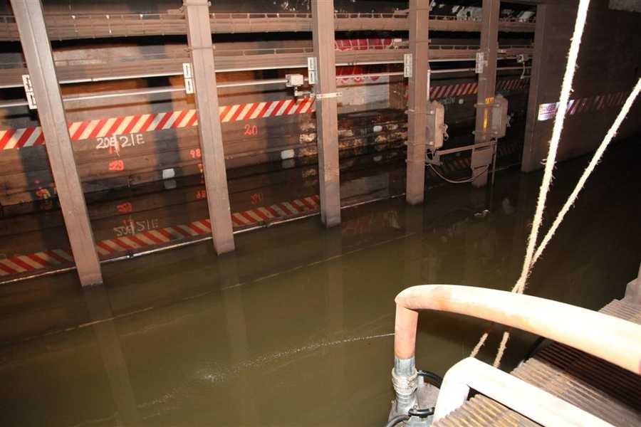 South Ferry Station Platform - Damage to the MTA New York City Transit system in the aftermath of Hurricane Sandy