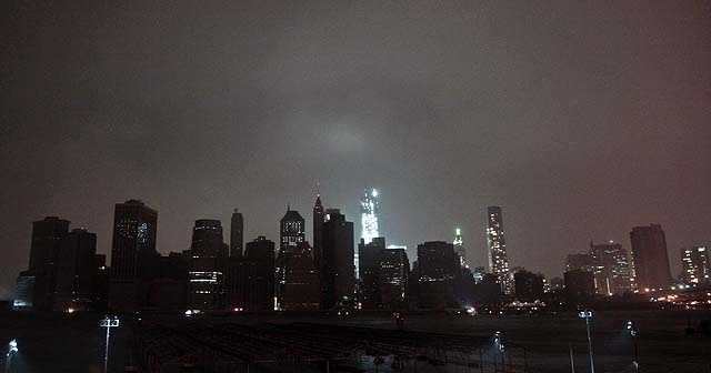 Lower Manhattan was plunged into darkness during Superstorm Sandy. For many in the city, the magnitude of the storm would not become apparent until the next morning.