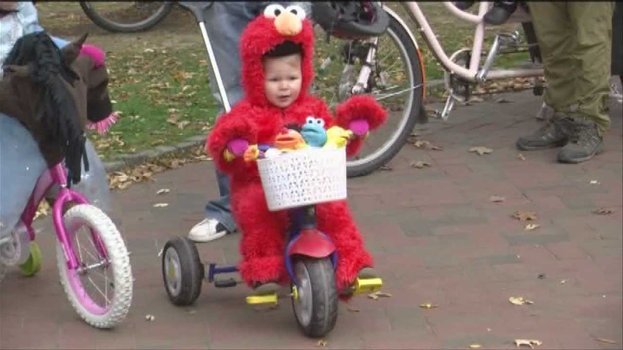 Burlington's Parks and Recreation Department and Local Motion held their annual Halloween Bike Ride on Sunday, scaring and awing passersby.