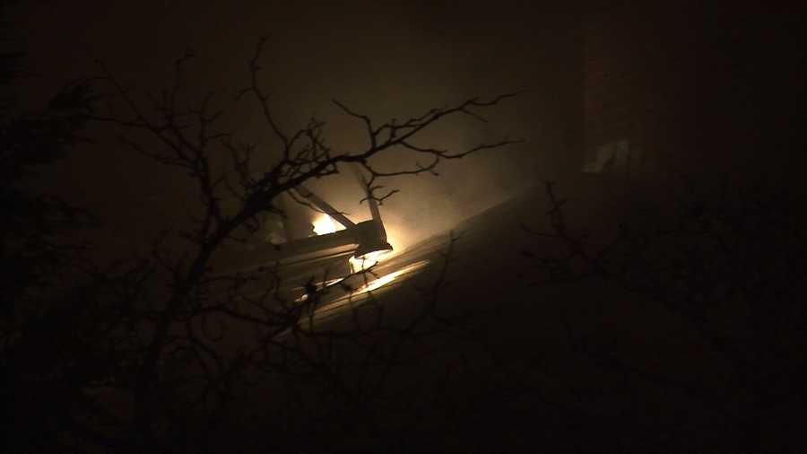 Crews fight a house fire on South Prospect Street in Burlington.