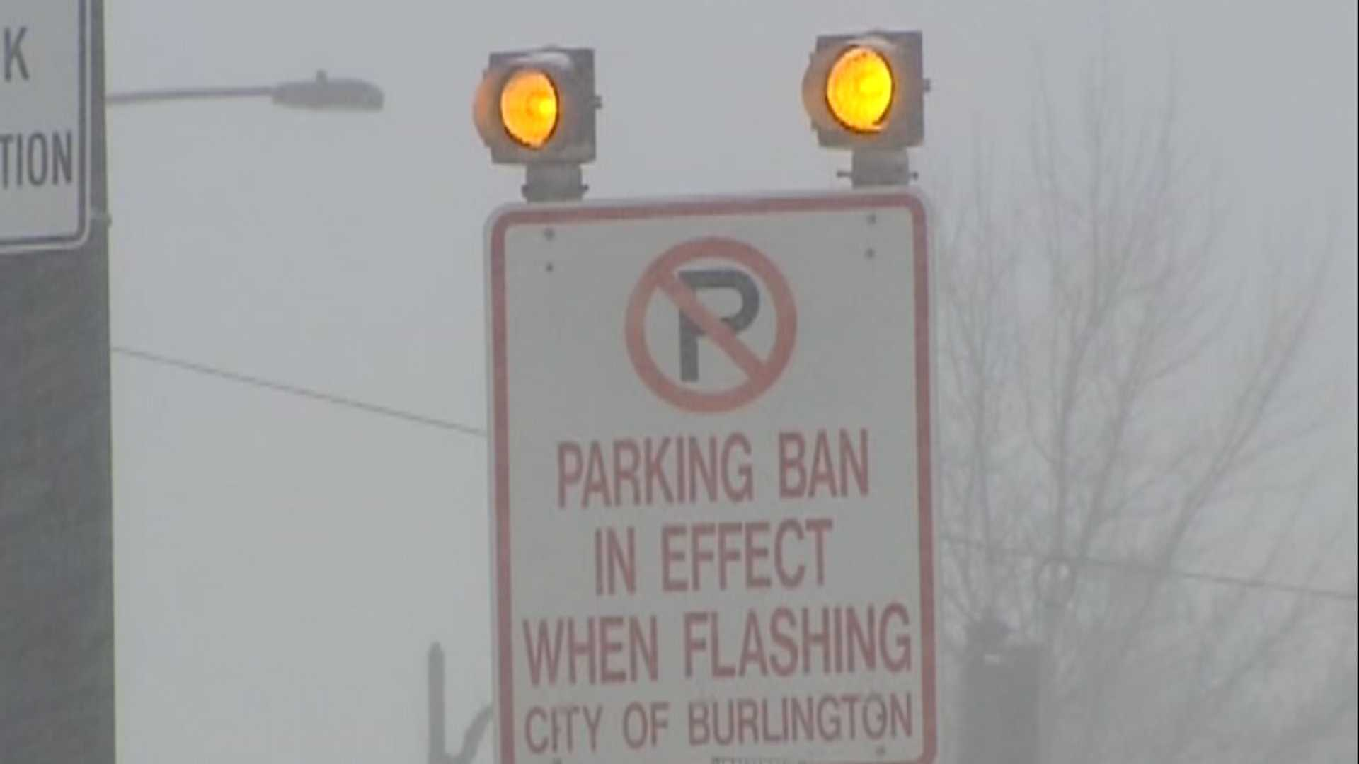 Burlington parking ban